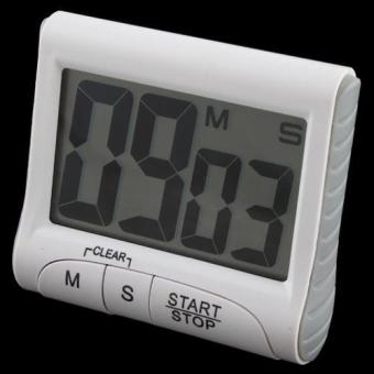 Harga High Quality Store New Large Big LCD Digital Count Up Down Kitchen Timer Alarm