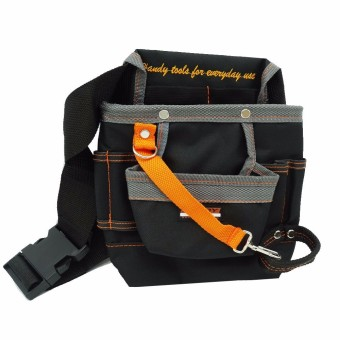 Harga High Quality 8 Pockets Oxford Tool Pouch Electrician Tools Bag Electrician Tool Belt Waist Pocket Tool Belt Pouch work belt ZK44