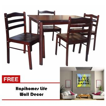 Harga Hapihomes Starter 4-Seater Dining Set with Life Wall Decor