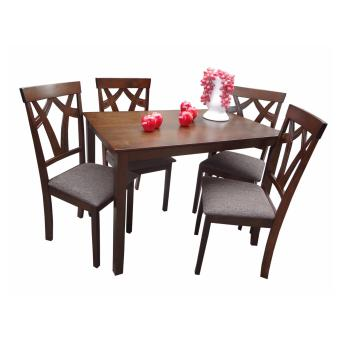 Harga Hapihomes Rox Jewel 4-Seater Dining Set with Cushion Seat