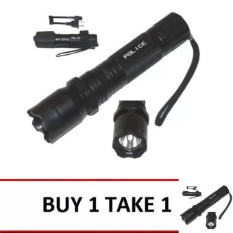 Rechargeable Police Flashlight with Stun Gun Taser (Black) Buy 1 Take 1 Price Philippines