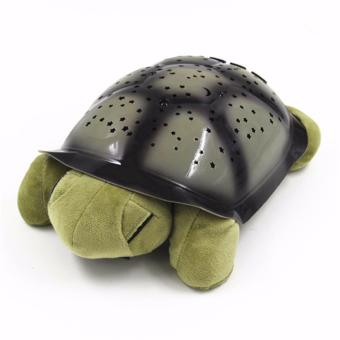 Harga Hanyu Turtle Night Lamp Sky Projection Lamp Turtle Night Light Stars Lamp and Music Children's Toys Star Projection Lamp-Green - intl