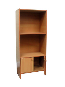 Harga DN-817 Bookshelf with Cabinet(Brown)