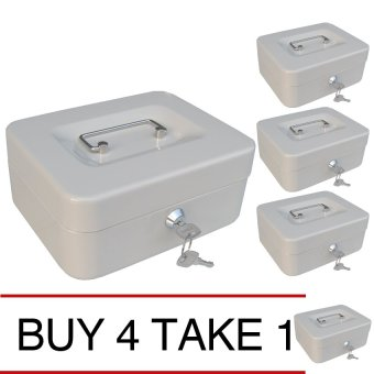 iSAFE CB-S Steel Safety Cash Storage Box (Beige) Buy 4 Take 1 Price Philippines