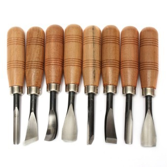Harga 8Pcs Woodpecker Dry hand Wood Carving Tools Chip Detail Chisel set Knives tool