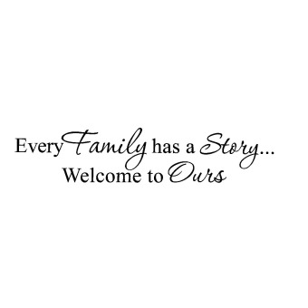 Harga Wall decal Every Family has a Story Welcome vinyl quote sticker Inspirational