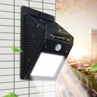 Harga 1.5W LED Solar Light PIR Motion Sensor 16 LED Outdoor Light Garden Security Wall Lamp Waterproof 220-400Lm - intl