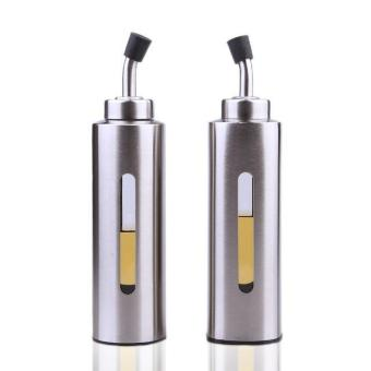 Harga Stainless steel oil can Visual leak-proof oil vinegar bottle sauce pot seasoning bottle Jars - intl