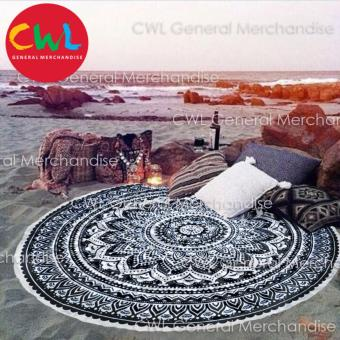 Round Beach Towel Mandala (Black) Price Philippines