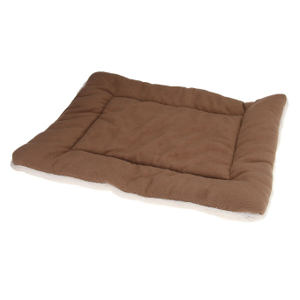 Harga Brown Dog Crate Mat Kennel Cage Pad Bed FLUFFY WASHABLE TRAVEL Pet Cushion