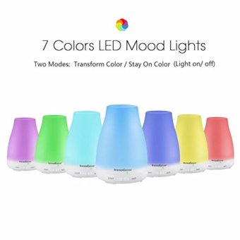 InnoGear Aromatherapy Essential Oil Diffuser Portable Ultrasonic Diffusers with Color LED Lights Changing and Waterless Auto Shut-off Function for Home Office Bedroom 100 mL - intl Price Philippines