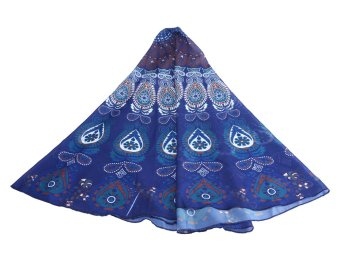niceEshop Mandala Beach Chiffon Beach Blanket (Blue) Price Philippines
