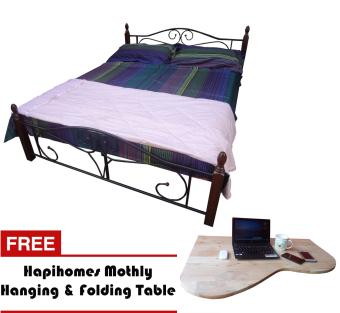 Harga Hapihomes Dusit 48' x 75' Bed Frame with Mohtly Hanging&Folding Table