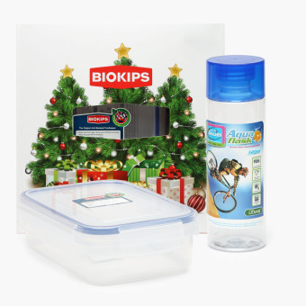 Biokips Food Container 670mL and Aqua Flask 320mL Set Price Philippines