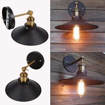 85~265V Vintage E27 Loft Industrial Style Metal Wall Light Retro Decor Lamp - intl Price Philippines
