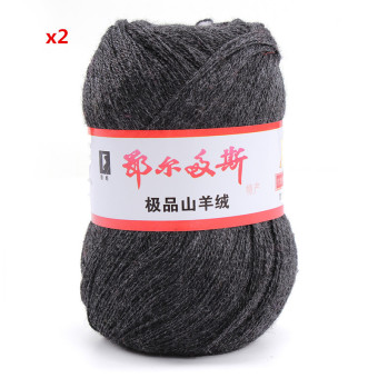 Harga Audew Cashmere Soft Knitting Weaving Wool Yarn Crocheting Colourful 50g Smoky gray