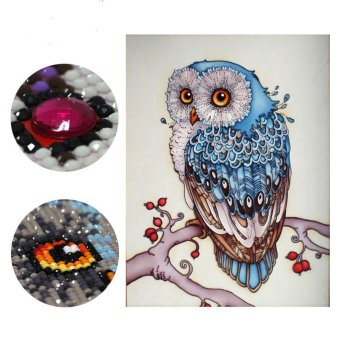 Harga 20x30cm Owl Diamond Embroidery Animal 5D Diamond Painting Cross Stitch Diamond Mosaic Needlework - intl