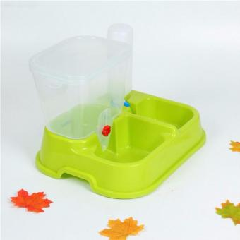 Harga Automatic Pet Feeder Food Water Dispenser Dish Dog Cat Bowl Drinking Bottle Green - intl