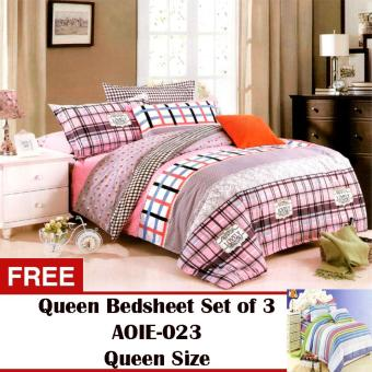 Harga Queen Classic Linen Collection Bedsheet Set of 3(AOIE-052)King with Free Queen Classic Linen Collection Bedsheet Set of 3(AOIE-023)Queen