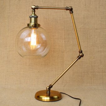 Vintage Table Lamp American Bar Iron Desk Light Adjustable Loft Designer Style Is The Folded Floor Lamp Long Arm Price Philippines