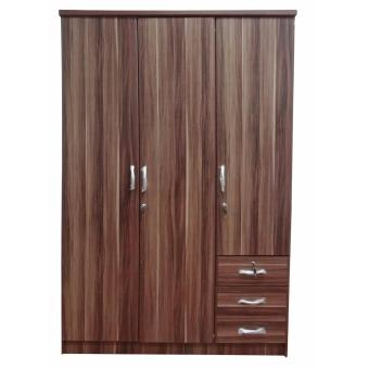 Harga Hapihomes Romeo 3-door Wardrobe with Mirror (wenge)
