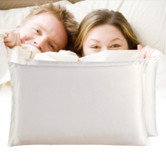 100% Pure and Organic Mulberry Silk Pillow Case - 19 Momme Ivory White - intl Price Philippines