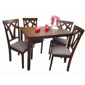 Harga Hapihomes El Jewel 4-Seater Dining Set with Cushion Seat