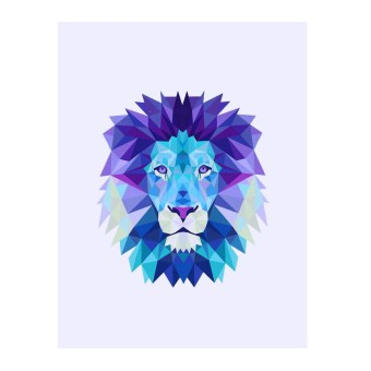 Harga Lion Waterproof Canvas Art Poster Wall Pictures 30*25cm - Intl