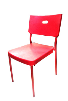 Harga Hapihomes 8008 Deluxe Plastic Stacking Chair (RED)