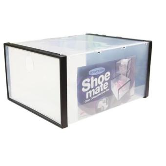 Harga Sunnyware Shoe Mate Clear Collapsible Shoe Box - Medium