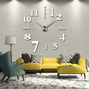 Harga 3D Diy Modern Home Decoration Wall Clock