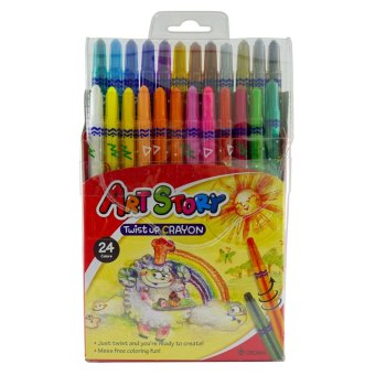 Harga Dong-A Crown Korea Twist Up Crayons 24 colors