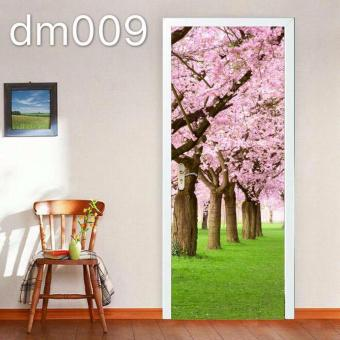 Cherry Blossoms PVC Funlife 3D Door Sticker Wall Sticker 77*200cm Price Philippines