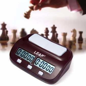 Harga New Arrival LEAP Digital Chess Clock Count Up Down Timer Electronic Board Game Player Set Portable Handheld Man Piece Master - intl