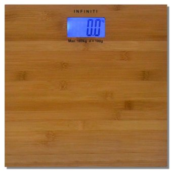 Infiniti Digital Real Bamboo Slim Bathroom Scale DBS-001