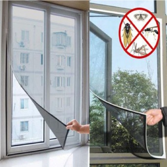 Insect Fly Bug Mosquito Door Mesh Screen Curtain Protector WindowNet With Tape