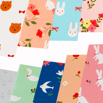 INSPIRE Elegant 16 Semi Gloss Patterned Papers Sheets CreativeScrapbooking Paper Pack #5 - 2