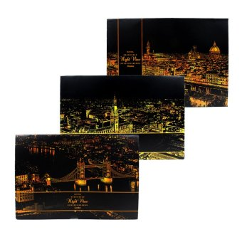 Inspire Lago Landmarks Scratch Night View Board Poster Set Of 3 Price Philippines