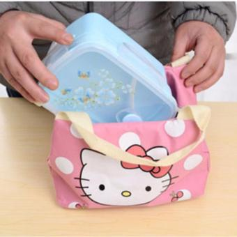 Insulated Lunch Bag Fashion Lunch Box Tote Waterproof Oxford ClothZipper Picnic Storage Bag - 2