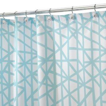 Interdesign Shower Curtain (Lino Blue)