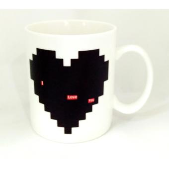Iyach Heat Activated Design Changing Mug - Love (White) - 3