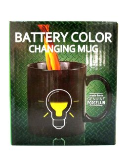 Iyach Heat Activated Design Light Bulb Changing Mug (Black) - 3