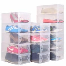 Perfect Ju0026C Clear Plastic Shoe Storage Transparent Boxes Organizer 10pcs.