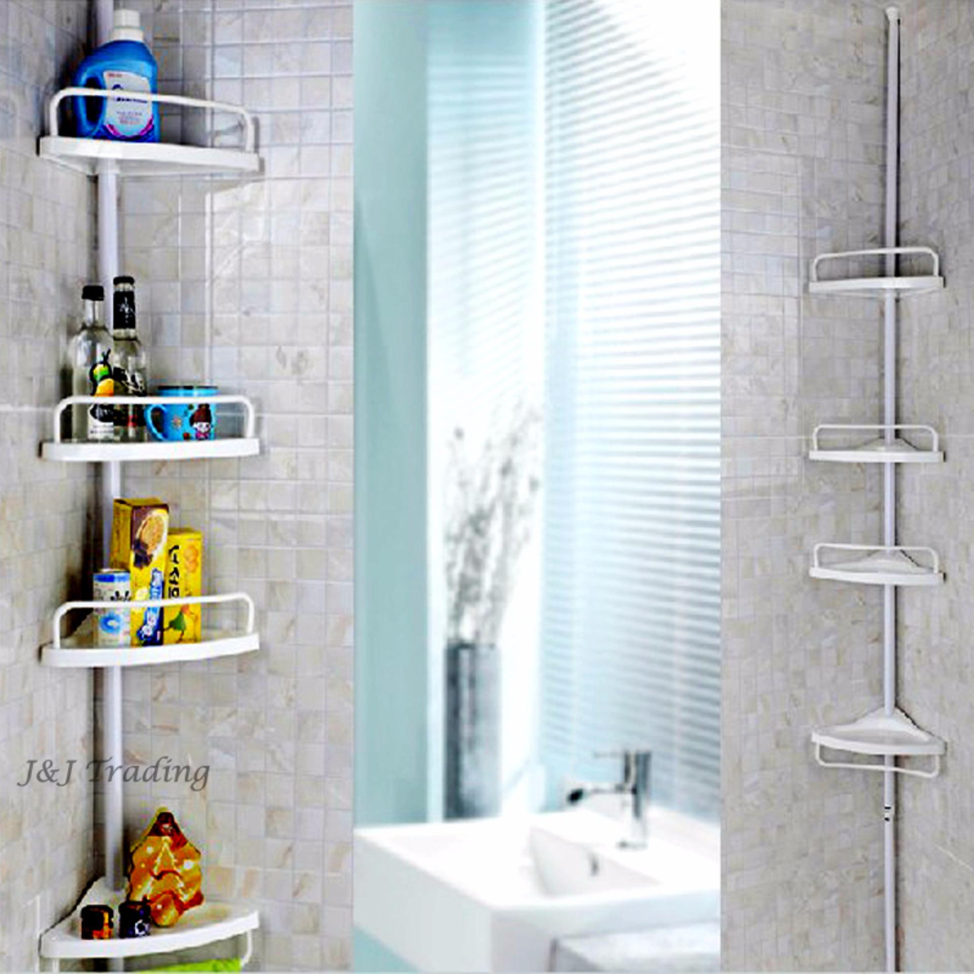 Philippines | J&J Large Multi Bathroom Corner Shelf (White) Price Me ...