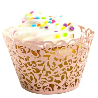Jetting Buy Lace Cupcake Wrapper Set of 50 (Pink)