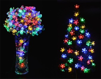 Jo.In 7M 50 LED Solar Flower String Light Waterproof Christmas Party Decor Light (Yellow) - picture 2