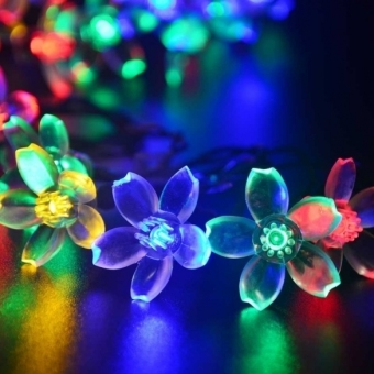 Jo.In 7M 50 LED Solar Flower String Light Waterproof Christmas Party Decor Light (Yellow)