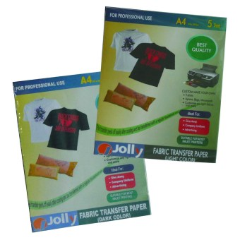 Jolly Fabric Transfer 1 Light (5's) & 1 Dark (5's) A4 Paper Price Philippines