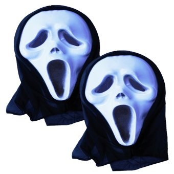 Jolly Halloween Mask - A Set of 2 (White) Price Philippines