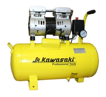 JR Kawasaki 1.5HP 30 Liters Silent and Oil-free Air Compressor(Yellow) Price Philippines